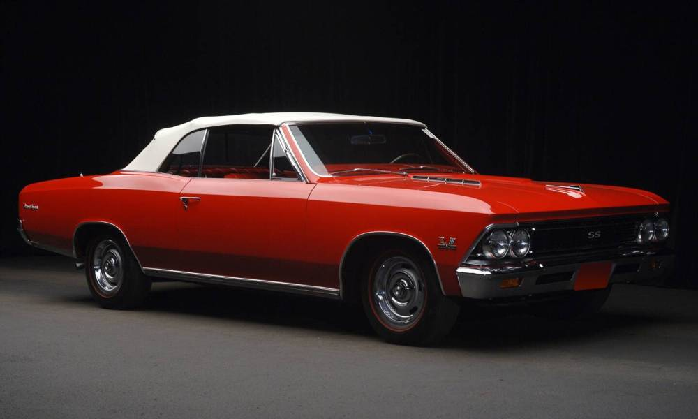 66 Chevelle SS 396 red convertible